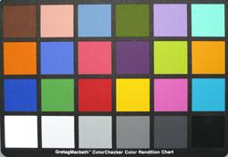 FX100 colour chart