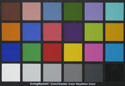 Panasonic DMC-FZ18 colour chart