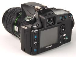 Pentax K100D Super angled