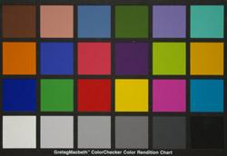 Pentax K100D Super AP colour chart