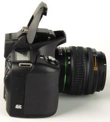 Pentax K100D Super side