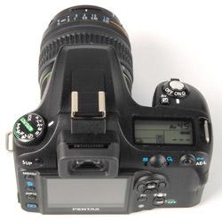 Pentax K100D Super top