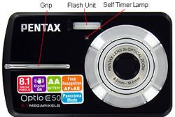 Pentax Optio E50 Front
