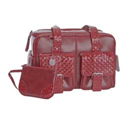 Calumet red leather bag