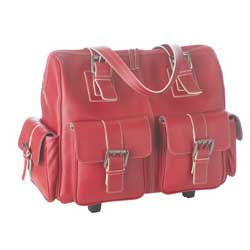 Red leather calumet bag