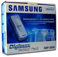 Samsung Digimax Battery review