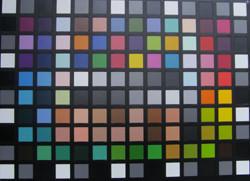 Samsung i70 colour chart