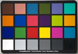 Samsung GX10 colour test chart