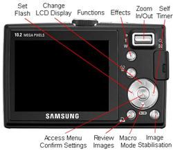 Samsung L210 Back
