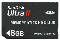SanDisk Memory Stick Pro Duo 8Gb
