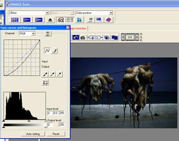 Scanning high contrast transparencies