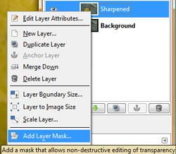 Selective sharpening tutorial