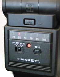 Sigma EF500 DG ST Mode dial