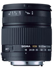 Sigma announce 18-125mm f/3.5-5.6 DC for Four Thirds mount.