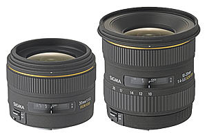 Sigma announce prices for 30mm and 10-20mm lenses
