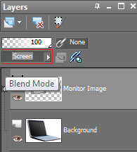 Layers tab in Gimp