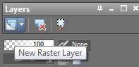 Raster layer in Gimp