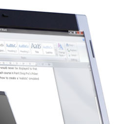corner shot of a laptop