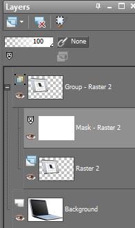 Screenshot of layers box in Gimp