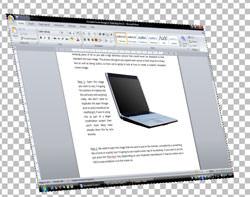 Image of laptop screen