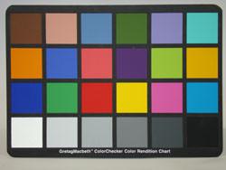 Sony Cyber-shot W200 colour chart