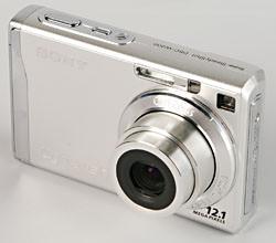 Sony Cyber-shot W200 front left