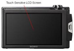 Sony DSC T500 Back