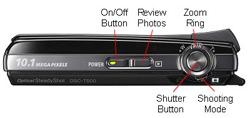 Sony DSC T500 Top