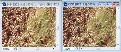 Nikon 14-24mm f/22 & Carl Zeiss 21mm f/22 Zone A resolution