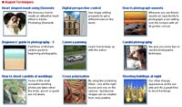 New Photography techniques section