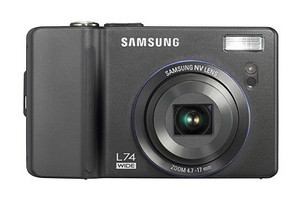 Samsung L74 - compact camera with built in travel guide