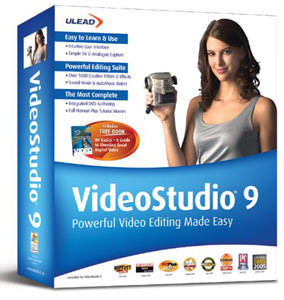 Ulead debut VideoStudio 9 video editing software