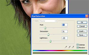 Using Photoshop's Color Range tool to change a background