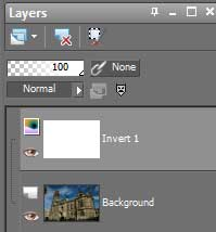 Layers box in Paint Shop Pro X2