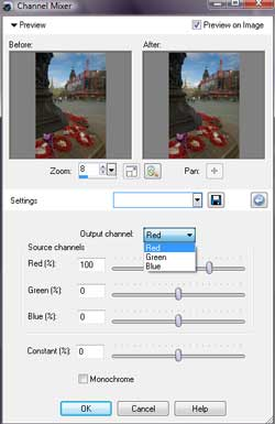 Step 2 in mixer tutorial