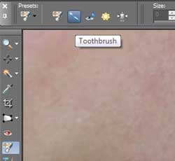 Using the Toothbrush tool in PSP