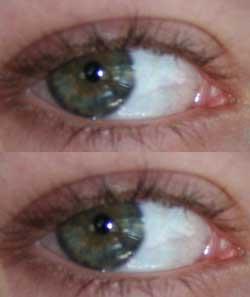Using the eye drop tool