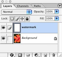 Watermarking your photos in Photoshop 7 and CS