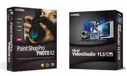 Corel Paint Shop Pro Photo X2 and Ulead Video Studio 11.5 Plus