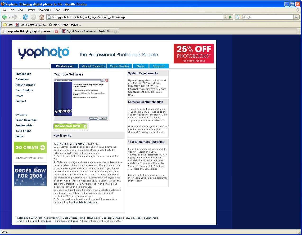 Yophoto Online Photobook Review   ePHOTOzine