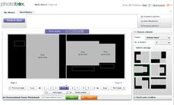 Photobox software screen print