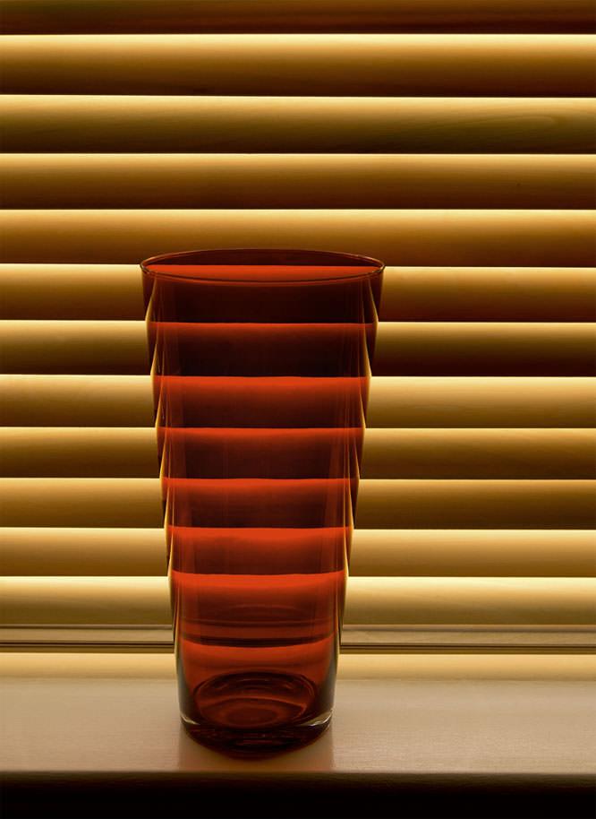 Red Glass Vase