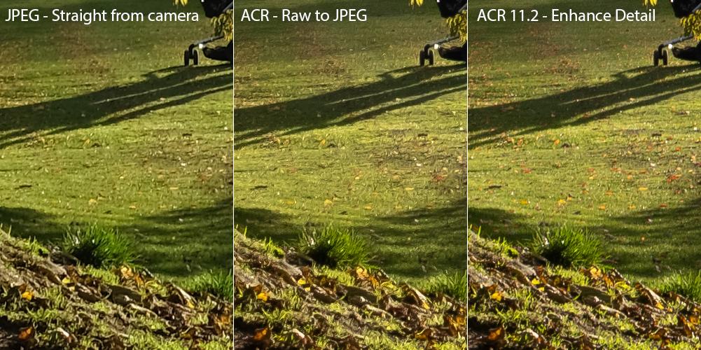 Adobe Camera Raw Enhance Detail Feature.