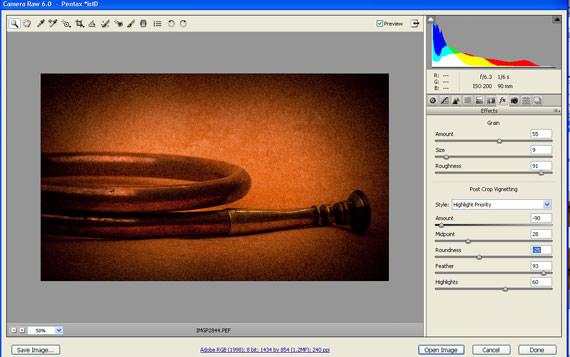 Adobe CS5 camera Raw 6