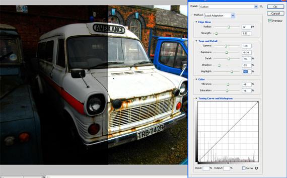 Adobe CS5 HDR Toning