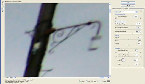 Adobe CS5 lens correction
