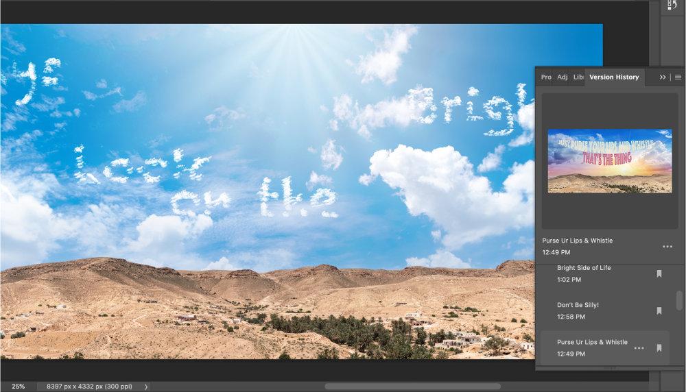 Photoshop Cloud Documents Version History 2 |