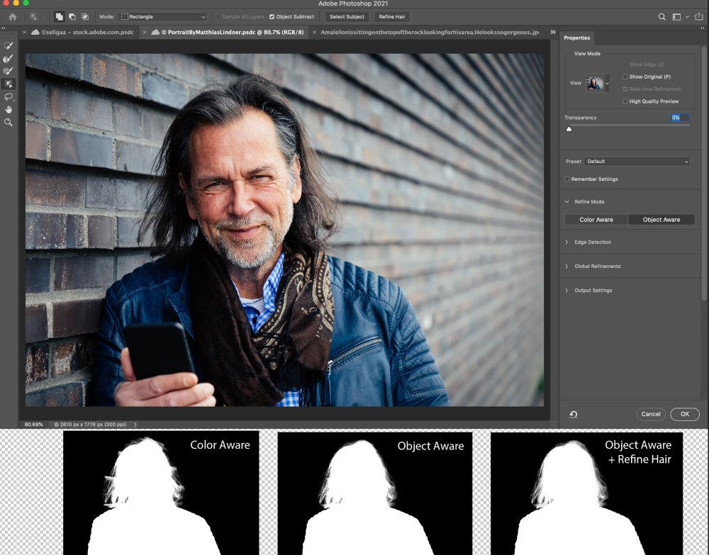 Photoshop Intelligent Refine Edge 2 |