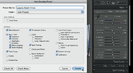 Lightroom develop preset