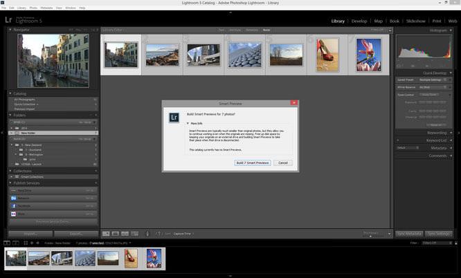 Lightroom Smart Previews Screenshot